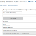 Example config of Microsoft driver with Windows Authentication